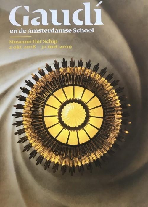 Poster Gaudí en de Amsterdamse School